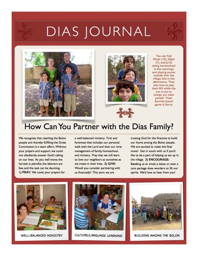 Dias Journal Presentation Letter