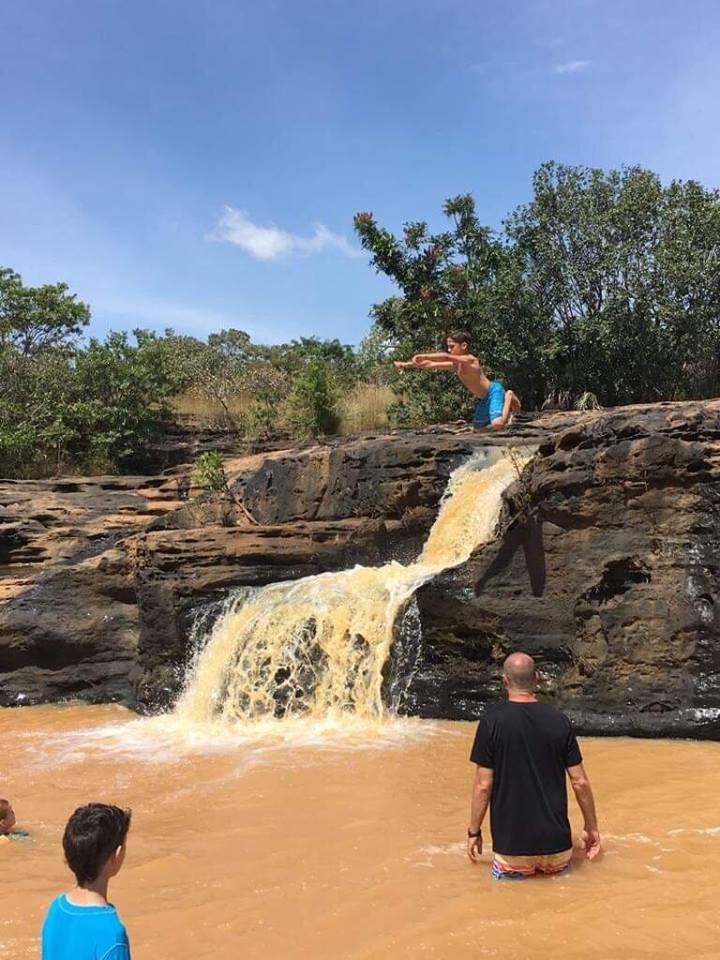 Boys at Banfora Falls